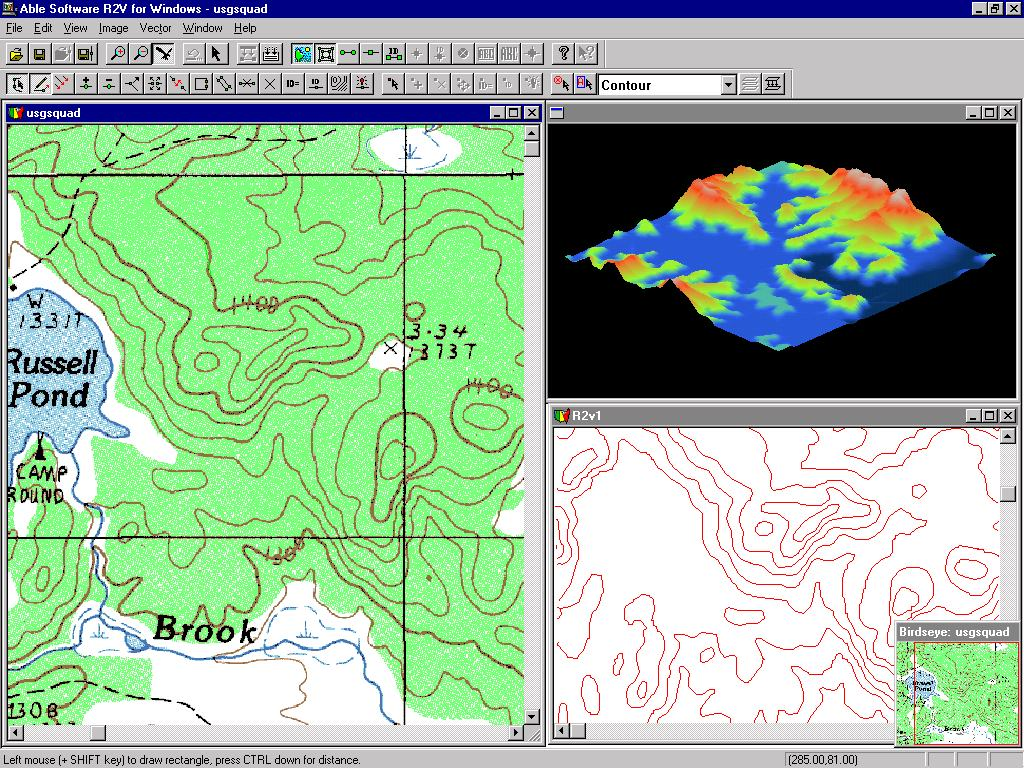 R2v raster to vector conversion gis mapping cad contour map gumiabroncs Gallery